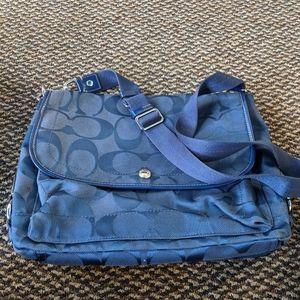 Women's Coach Blue CrossBody Messenger Bag EUC